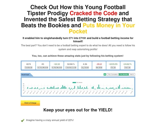 Main Sales Page — Football Betting Tips and Predictions - Bettor Experience  - Trends Wide