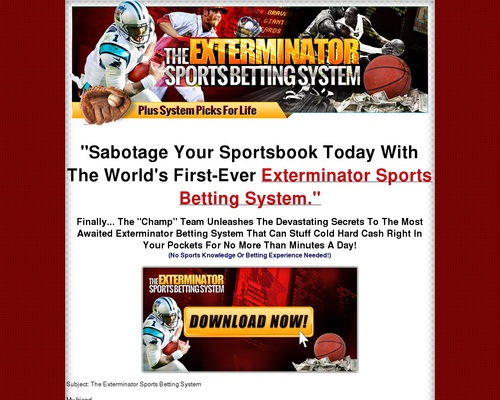 sports betting champ nfl system