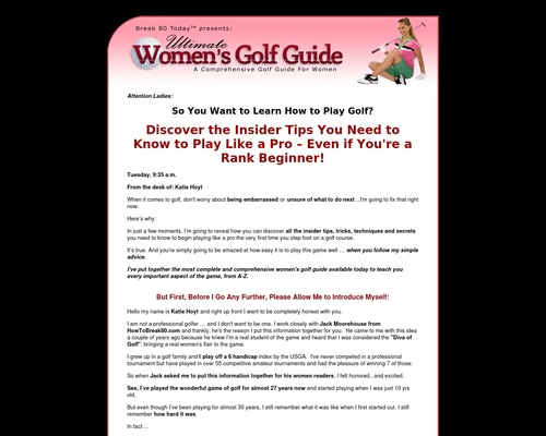 Ultimate Women's Golf Guide Reviews