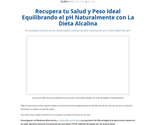 Dieta Alcalina para recuperar tu salud y peso ideal — dietaalcalina.net Reviews
